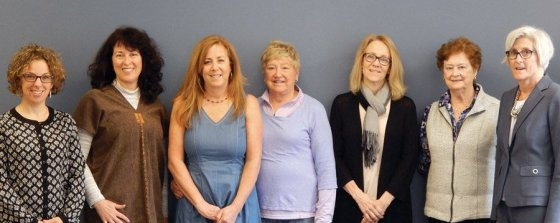 Animal Welfare grants committee: Molly Robertshaw, Linda Pavey, Anne DeLyons, Marjorie Rauh, Ann Hill, Maureen Heekin and Mary Pitcairn. Not pictured: Karen Meyer and Martha Wolf