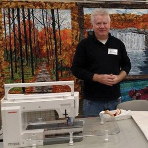 Larry McKenney, fiber artist, was inspired American icons.