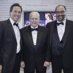 Executive Director Jay Woffington, Otto M. Budig Jr. and Producing Artistic Director Brian Isaac Phillips