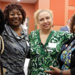 Newly sworn-in CASA volunteers Lisa Allbrittin, Paulette Agbenu and Kristina Irby, with CASA manager Brenda Gray-Johnson