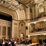 The stage of Springer Auditorium, Cincinnati Music Hall.