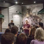 Gregg Wilson of Rhinegeist Brewery in the museum's Rails Gallery