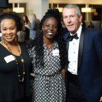Dawn Grady; Monique Gilliam (center), who shared her Bethany success story with guests, and emcee Mike Brown
