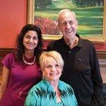 Co-chairs Reena Dhanda Patil and John Harrison, with Pinnacle Award honoree Barbara Bushman