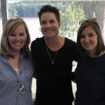 Literacy Network's Michelle Otten Guenther and Shannon Lienemann with Train's lead singer, Pat Monahan