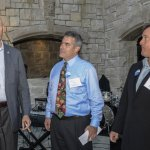 Hamilton County Sheriff Jim Neil with Eric Cummins, St. Joseph's CEO, and Russ Doyle, its chief development officer