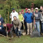 Rotarians and friends on tree-planting day
