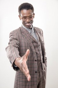 """Darnell Pierre Benjamin in """"Guess Who's Coming to Dinner"""" (photo by Mikki Schaffner)"""