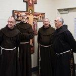 Member of the Franciscan Friars Leadership Team: Fr. Page Polk OFM, Fr. John Barker OFM, Fr. Dan Anderson OFM, Fr. Vince Delorenzo OFM.