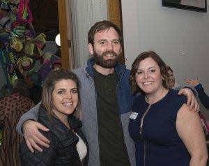 Christy Samad, David Vissman and Carnegie executive director Kim Best