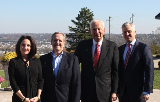 Members of the Capital Campaign Cabinet: Lori Zombek, Gary Strassel, Roger Schorr, Patrick Hughes