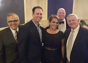 Michelle Krumpelman with Lee Bledsoe, Andy Krumpelman, CLH board member and gala co-chair Ron Padgett and Steven White