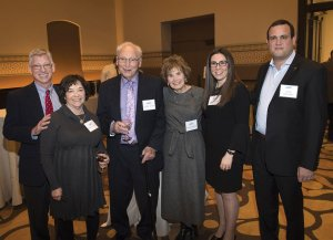 O.J. Cohen, Barbara Cohen, major supporter Wilbur Cohen, major supporter and committee member Miriam Cohen, Sarah Weiss and Avshi Weinstein