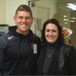 FC Cincinnati's Jack Stern, 2018-19 campaign chair with Center CEO Laurie Nelson