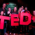Tedx volunteers during 2018 auditions: Michelle Constanzo, Chris Lah, Kelsey Grassman, Jami Edelheit, Janet Hill, Byron Hutchins, Jeffrey Miller