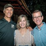 Thane Maynard, zoo director; Dawn Hock, Tulip Event committee member; and Chris Hock, zoo board member
