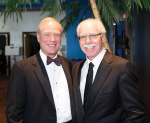 Previous honoree George Vincent with Rich Boehne
