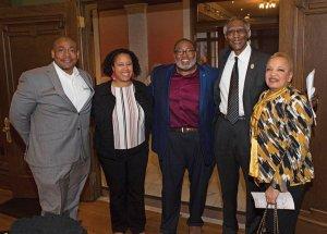 Dion Brown, Tracey Miller, Chris Miller, the Rev. Damon Lynch Jr. and Barbara Lynch