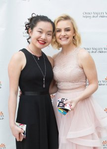 OVV alumna Jazzie Peffly with Sophie Blessing
