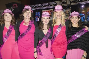 Raffle helpers: Jody Aschendorf, Karen Jackson, Jeanne Houck, Lisa Coors and Kris Bellush