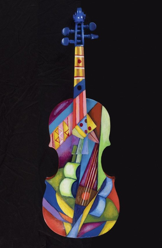 "Cedric Michael Cox: ""Guitar with Violin in the Garden"""