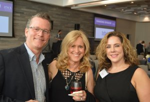 John and Christine McKenzie with Amelia Orr, COCA executive director