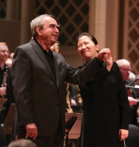 Robert Porco, director of May Festival choruses, with Eun Sun Kim