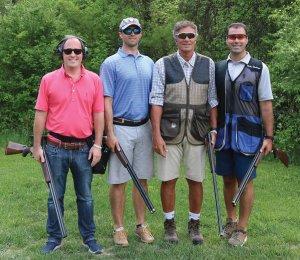 The first-place Anchor Properties team: C.J. Judge, Josh Niederhelman, Steve Hemberger and Matt Hemberger