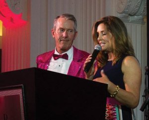 Emcees Mike Brown and Tanya O'Rourke