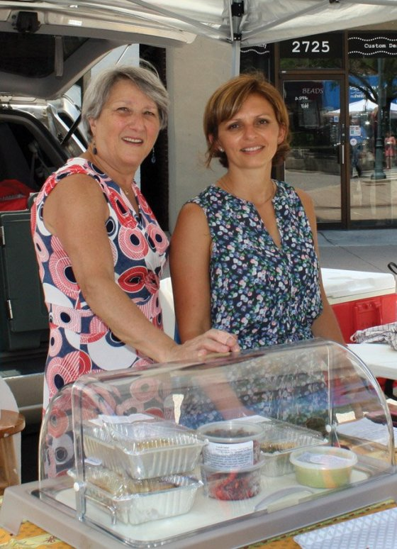 Hyde Park Farmers' Market - Brigitte Cordier and Anne Fribourg of Simply French Cuisine are French-born foodies whose paths crossed in Cincinnati. They have a passion for fresh, clean, organic food and cook everything from scratch with quality ingredients, sourcing local products whenever available.