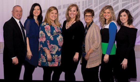 Literacy Network staff: Ed Jung, Liz Priestle, Kim McDermott, Michelle Otten Guenther, Bette Zureick, Annie Schneider and Shannon Lienemann