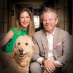 Michelle and Kevin Jones with their dog, Crosley (photo by Tina Gutierrez)
