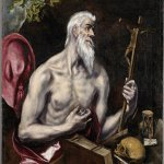 "From ""Treasures of the Spanish World"" at the Cincinnati Art Museum: El Greco, ""The Penitent Saint Jerome,"" circa 1600, oil on canvas, courtesy of The Hispanic Society of America, New York"