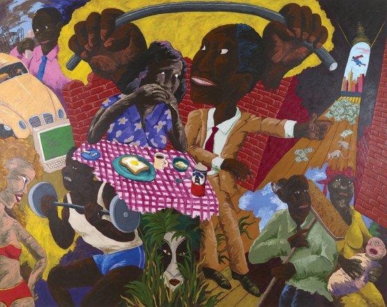 """Robert Colescott, """"Feeling His Oats"""""""