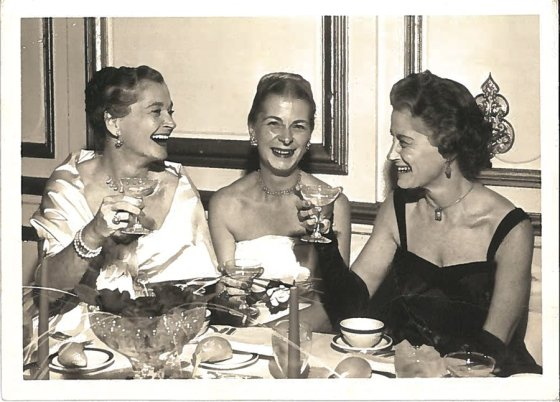 "Undated photo of Irma Lazarus, local arts leader Dorothy ""Dot"" Visser, first publicity director for the Cincinnati Zoo, and Lazarus' twin sister, Eleanor Strauss."
