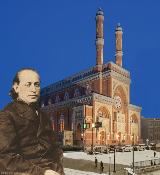 'Plum Street Temple, Cincinnati, 1866-present,' by J. Miles Wolfe