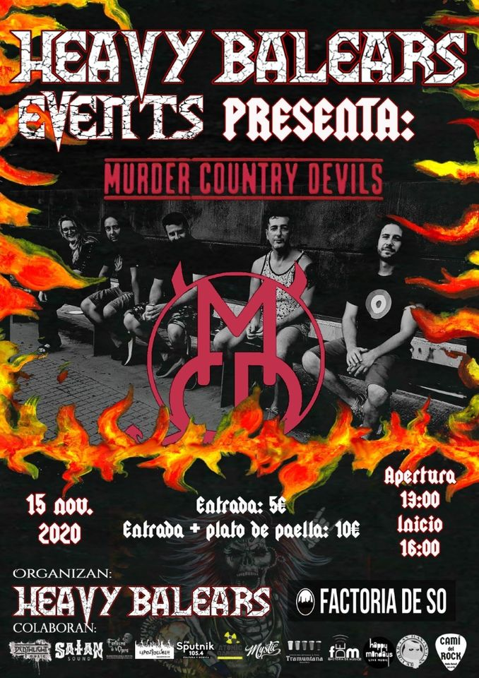 Heay Balears Events presenta: Murder Country Devils