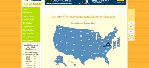 SchoolDigger.com the Easy Way to Evaluate K 12 School Performance