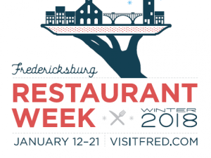 Fredericksburg Restaurant Week Winter 2018