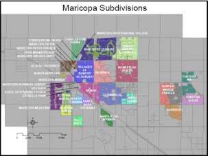 homes for sale in Maricopa AZ by subdivision