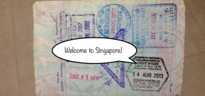 American Passport Singapore Stamp