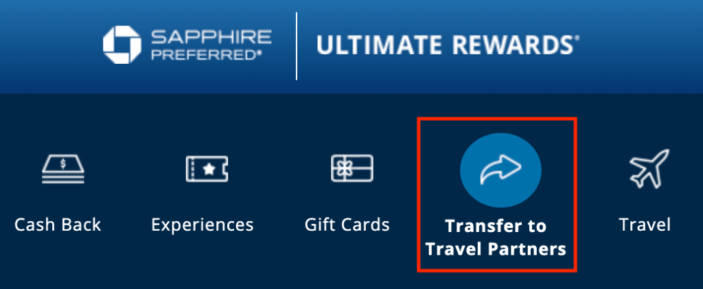 chase ultimate rewards travel partners