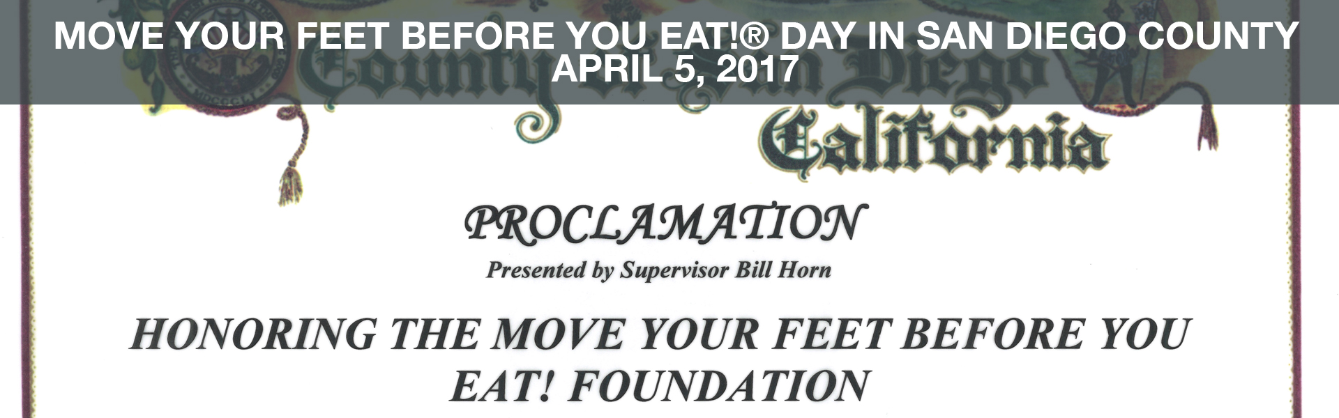 move your feet before you eat day san diego county