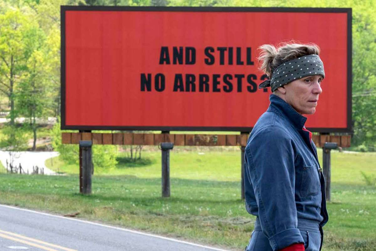 Frances McDormand as Mildred in 3 Billboards Outside Ebbing, Missouri