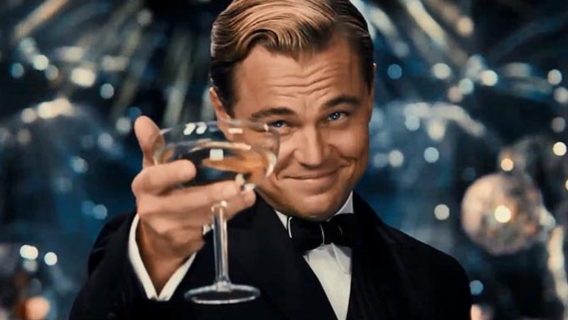 Leonardo Dicaprio as Gatsby in The Great Gatsby
