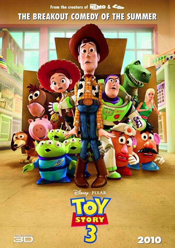 Toy Story 3 - Road Trip Movie List
