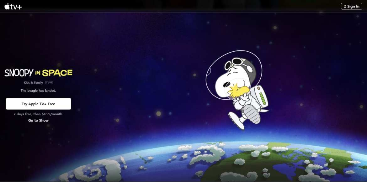 Apple TV+ Snoopy in Space