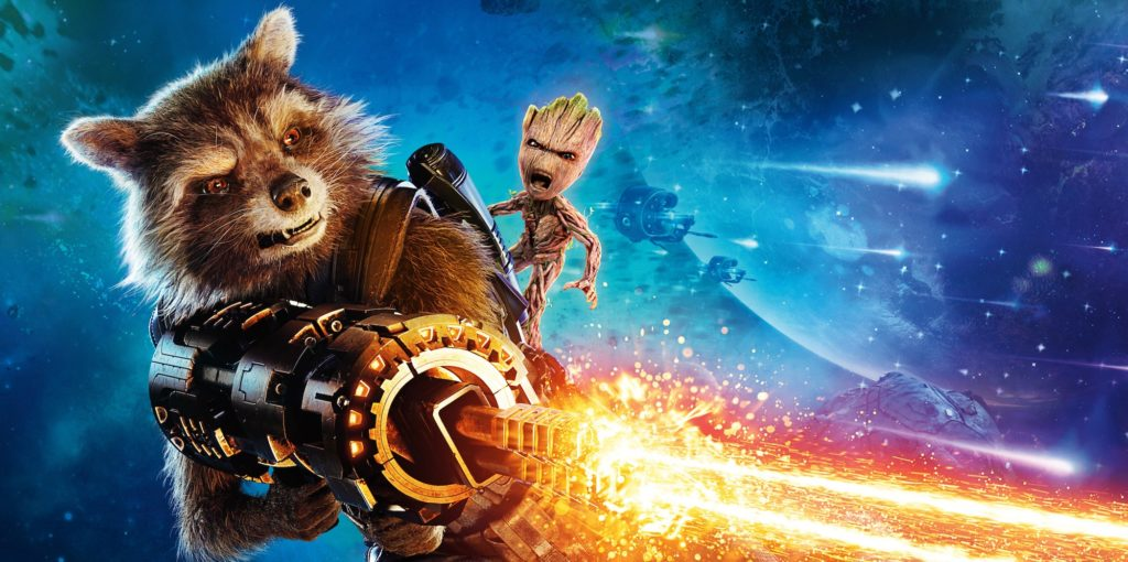 Bradley Cooper voices Rocket Raccoon and Vin Diesel voices Groot in the Guardians of the Galaxy movies and in the upcoming Avengers: Infinity War.