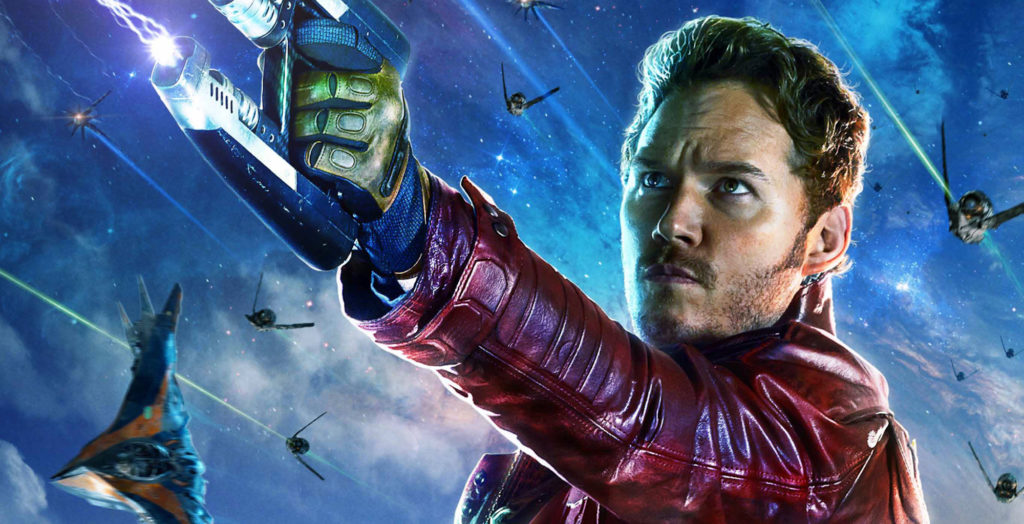 Star-Lord is played by Chris Pratt in the Guardians of the Galaxy movies and in the upcoming Avengers: Infinity War.