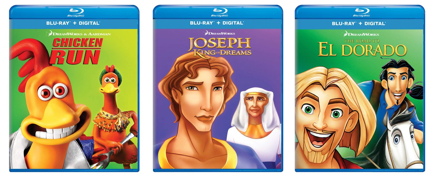 Chicken Run, The Road to El Dorado and Joseph all come to Blu-ray this week.